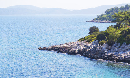 east coast: Bodrum, Turkey - Beautiful view from the popular holiday destination in spring time Stock Photo