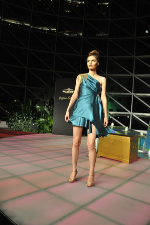 Fashion Show displaying Cigdem Sonkurt s latest fashion designs in Palladium Mall in Istanbul  Sonkurt is a famous Turkish fashion designer
