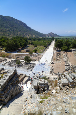 the great wall and the fall: Ancient city of Ephesus, Turkey
