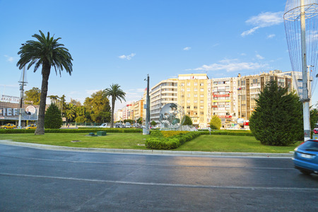 IZMIR, TURKEY - JULY 17   World peace monument in Alsancak square, July 17, 2014 in Izmir