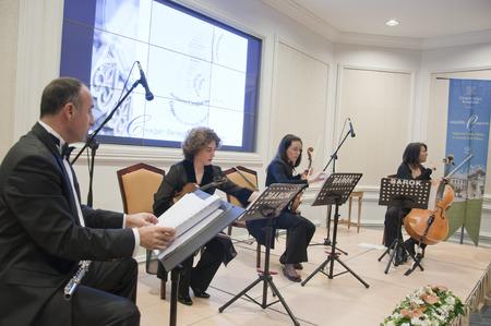 Istanbul, TURKEY - June 15, 2014: Free public classical music concerts run by Ayse Sipahioglu at Ciragan Palace Kempinski Hotel, Istanbul. Taken on June 15, 2014
