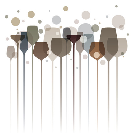 Stylized illustration of elegant drink glasses