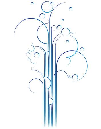 sprinkler: Elegant flourish gushing out, vector design element Stock Photo