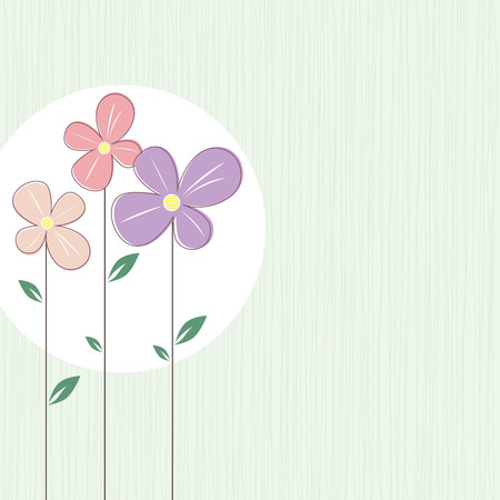 minty: Vector colorful flowers on elegant pastel minty green background