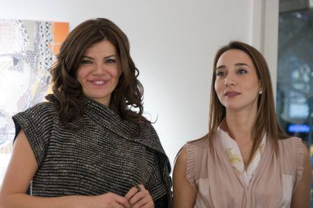 pinar: ISTANBUL, TURKEY - JAN 13, 2012: Opening night of Pinar du Pre art exhibition at Linart Gallery on January 13. Editorial