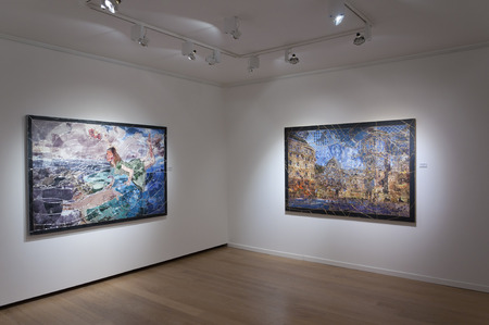 ISTANBUL, TURKEY - JAN 13, 2012: Opening night of Pinar du Pre art exhibition at Linart Gallery on January 13.