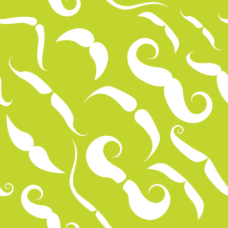 Seamless pattern with funky mustache types