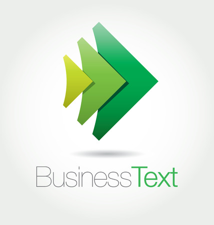 Modern green icon with abstract rising arrows Vector