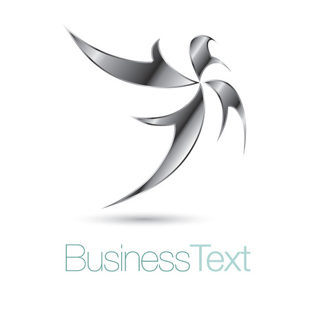 silver star: Abstract and stylized silver star business icon