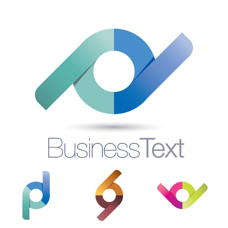 Abstract and stylized versatile circle business icon
