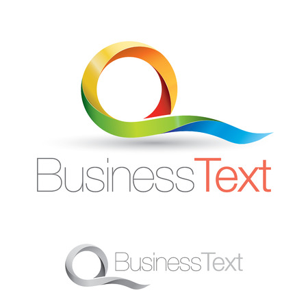 Abstract business icon with colorful and stylized letter Q Illustration