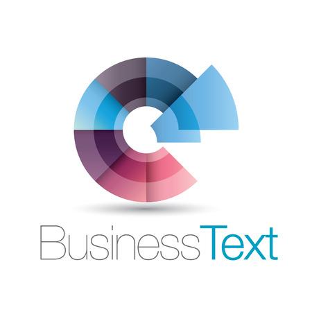 icone tonde: Business icon circolare con stilizzato lettera e in minuscolo Vettoriali