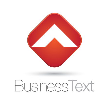 letter box: Letter A in a red square box business icon Illustration