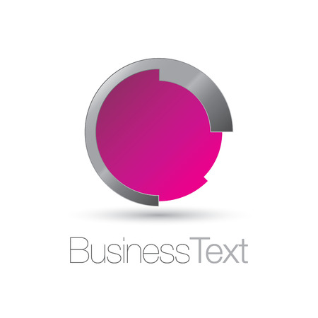 fuchsia: Futurista icono de moda del c�rculo con el color fucsia brillante copia espacio para el emblema o el texto