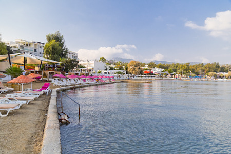 holiday destination: Gumbet, Bodrum, Turkey - Beautiful view from the popular holiday destination Editorial