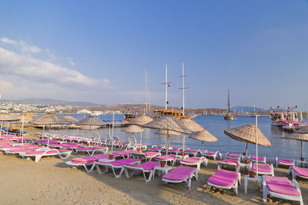 holiday destination: Bodrum, Turkey - Beautiful view from the popular holiday destination Stock Photo