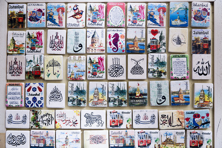 souvenir traditional: Istanbul touristic magnets