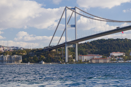 bosporus: The Bosporus Bridge, Istanbul Stock Photo