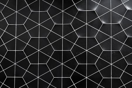 Hexagonal tiled wall texture background photo