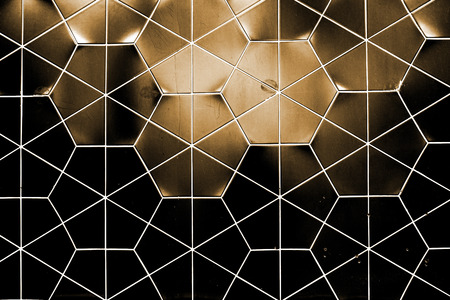 Hexagonal tiled wall texture background photo