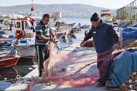 fisherman boat: Fishing in Gemlik, Bursa, Turkey Editorial