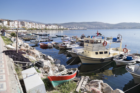 recreational vehicle: Fishing in Gemlik, Bursa, turkey