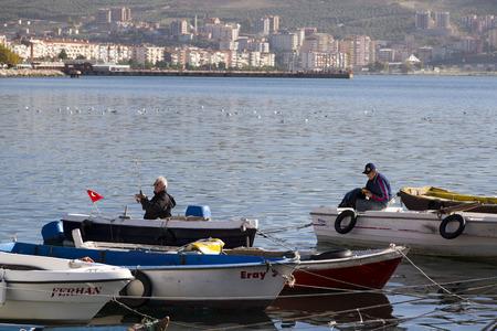 fishing ship: Fishing in Gemlik, Bursa, turkey