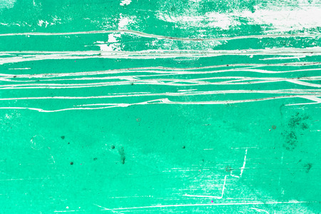 paint peeling: Teal grunge texture background Stock Photo