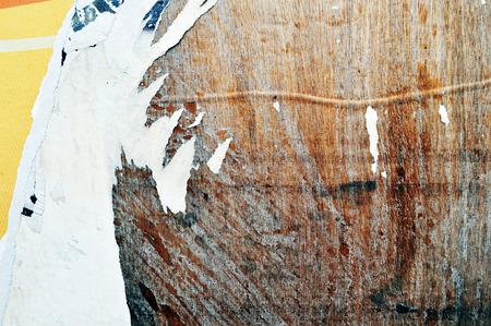 deteriorate: Torn billboard paper background Stock Photo