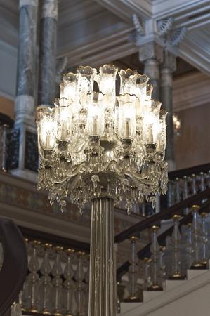 Luxury chandelier in a palace
