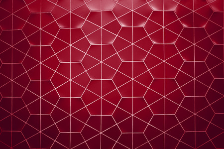 Zeshoekige betegelde muur textuur achtergrond