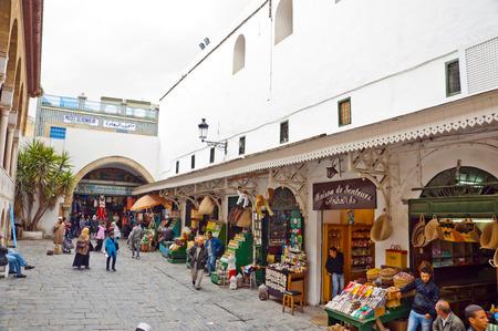 african worship: Street in Tunisia Editorial
