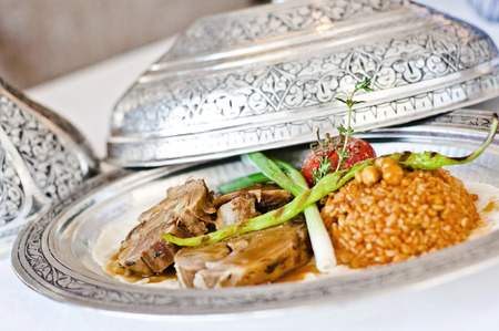 ottoman empire: Turkish lamp dish, kuzu tandir