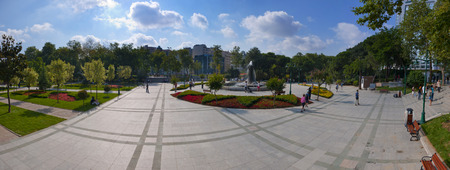 generation y: Panoramic view of Gezi Park, Istanbul Stock Photo