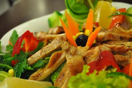 red breast: Chicken salad