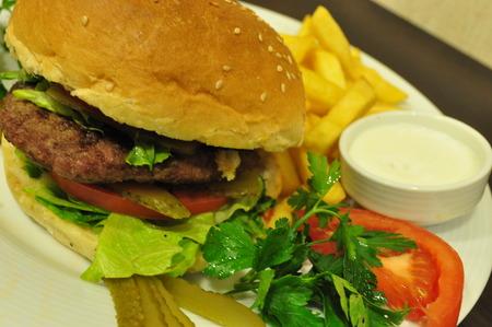 Turkish style meatball burger photo