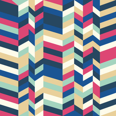 Seamless herringbone pattern with a cool pastel color palette Vector