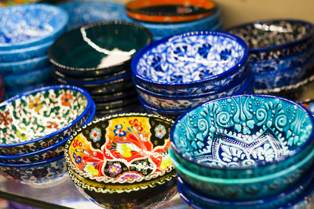 Turkish traditional pottery goods photo