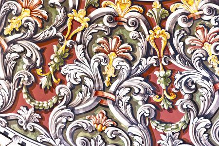 arabische letters: Ottomaanse barokke verlichting kunst