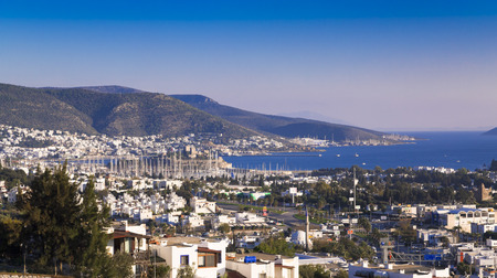 bougainvillea: Bodrum, Turkey - Beautiful view from the popular holiday destination Stock Photo