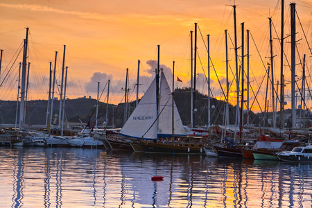 east coast: Bodrum, Turkey - Beautiful view from the popular holiday destination Editorial