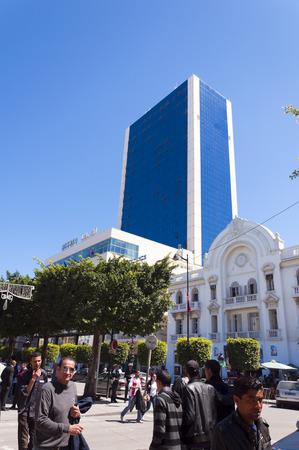 light columns: Hotel Africa, Tunis