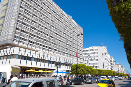 front entry: Tunis city center, Tunisia