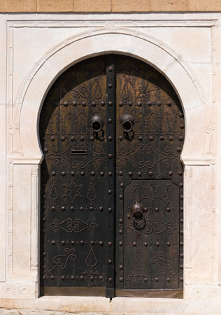 clowds: Traditional Tunisian door Stock Photo