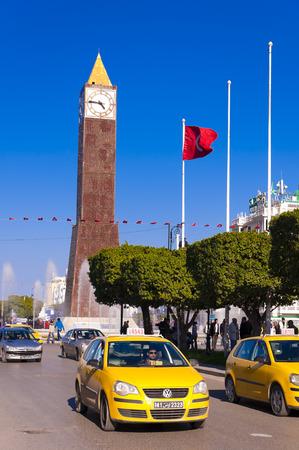 ville: Clock Tower ave Habib Bourguiba Ville Nouvelle Tunis Tunisia