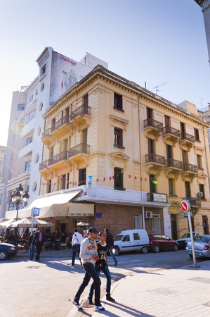 clowds: Tunis city center, Tunisia