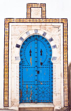 east africa: Traditional Tunisian door Stock Photo