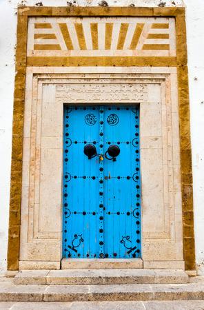 Traditional Tunisian door photo