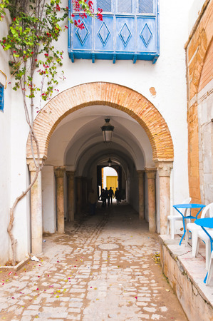 open gate: Street in Tunisia Stock Photo