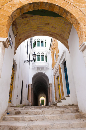 Traditional street in Tunis, Tunisia